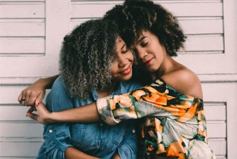 two ladies hugging - my renew box